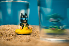 Batman illusion (BrickVin) Tags: lego minifigure batman joker vacation summer toy macro figure batgirl batmanmovie photo photography gotham alfred beach glass arkham illusion dccomics superheroes collection