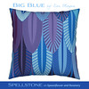 Blig Blue by Alex Morgan (Spellstone) Tags: wildlife bird parrot macaw blue ultraviolet feather spellstone spoonflower roostery art craft design surface pattern society6 alexmorgan pillow cushion phonecase textile fabric wallpaper totebag tote clock wallclock mug rug pouch laptopskin clothing apparel sewing curtains