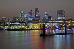 Fiume di pietra / Stony river (City of London, London, United Kingdom) (AndreaPucci) Tags: cityoflondon london night uk thames andreapucci