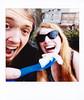 selfie (House Of Secrets Incorporated) Tags: fujiroid cheki instax instaxsquare fujiinstaxsquare fujifilm fujiinstaxsquaresq10 instantphotography instantphotograph keepfilmalive filmphotography bertvdw selfie selca disney food quiche water evian hilde