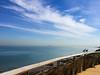 Seagulls @ Sandringham (Marian Pollock) Tags: australia victoria melbourne sandringham beach coastline clouds sea portphilipbay coast sunny autumn daytime birds fence ballustrade seagulls horizon still iphone sunlight water