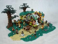 Shire seasons festival - main (fdsm0376) Tags: moc brickpirate bpchallenge lego lord rings lotr hobbit shire festival season castle medieval fantasy