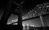 Connecting the Banks (Scott Mohrman Photography) Tags: monochrome blackandwhite skyline downtown urban city crescent bridge river mississippi louisiana neworleans nola photography mohrman scott