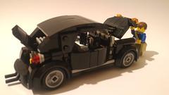 vw beetle build (barneysharman) Tags: car vehicle vw camper black beetle lego herbie love bug kdf volkswagon volkswagen baja moc dub custom minifigure scale splitscreen monster bugjam classic retro bricks