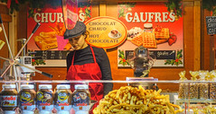 waffles on the street (albyn.davis) Tags: paris france europe travel people food waffles colors colorful orange yellow red nutella