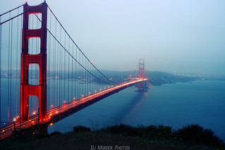 Gloomy afternoon at the Golden Gate..