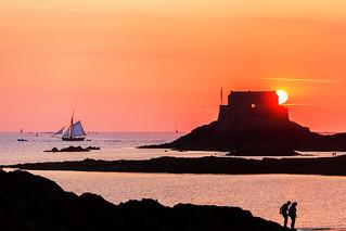 Sunset du coté de Saint Malo ...