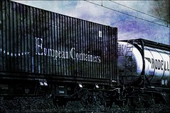 Container and Tank - 1 (b_kohnert) Tags: painting digitalpainting digitalart tank container railway train