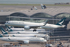 B-LRM, A350-941, Cathay Pacific, Hong Kong (ColinParker777) Tags: blrm airbus a50 a350 a359 359 a350900 a350941 cx cpa cathay pacific airways airlines air airliner plane travel airplane aircraft aeroplane approach landing finals hkg vhhh hong kong chek lap kok airport terminal arrival canon 7d 7d2 7dmk2 7dmkii 7dii 200400 l lens professional zoom telephoto