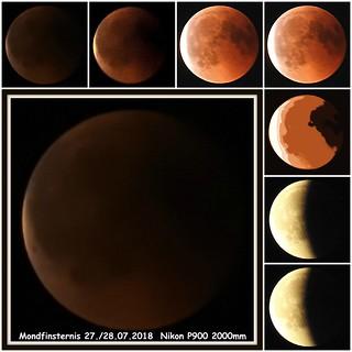 Habe mir die Mondfinsternis angeschaut und paar Fotos gemacht. Schönes Wochenende.  Ein Foto habe ich mit einer beabsichtigten Tontrennung eingefügt!
