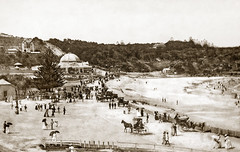 """Circa 1891 - """"COOGEE PALACE AQUARIUM"""", Coogee, Sydney, New South Wales, Australia (restored version) (aussiejeff) Tags: 1890s newsouthwales australia jeffc historic vintage antique vsl sepia aussiejeff coogee restore statelibraryvictoria"""