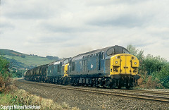 BR Blue Double-Header On The Preston Tanks (Michael McNicholas) (Neil Harvey 156) Tags: railway 37083 37042 mytholmroyd caldervalley prestondockstanks prestontanks bitumentanks 7e60 class37 brblue railblue doubleheaded tractor growler michaelmcnicholas