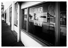 Silver Shoe Repair (mikerosebery) Tags: newmexico nm silvercity storefront shoerepair boots