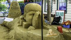 Station sand art (Tony Tomlin) Tags: whiterockbc station sand sculpture britishcolumbia canada