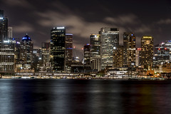 sydney (Greg Rohan) Tags: harbour sea ocean water lights longexposure nightphotography nightlights night clouds sky buildings building skyscrapers skyscraper skyline landscape cityscape city nsw sydney australia d750 2018 nikon nikkor
