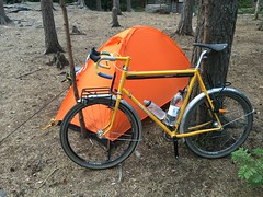 Surly pacer 650b, now with custom rear rack too.. (immu) Tags: surly pacer surlybicycles bikecamping cyclotouring yellow diy randonneur randonneuring nuuksio steel bike bicycle compasstires honjo honjofenders cottonbartape