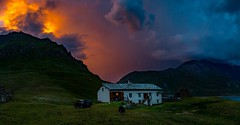 Heavenfire (Freek van oord) Tags: mountain sunset clouds frenchalps alps panoramic