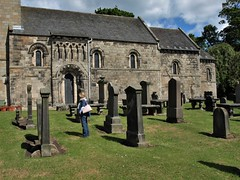 Dalmeny Church (Fraser P) Tags: scotland edinburgh dalmeny southqueensferry westlothian lothian church norman kirk romanesque medieval carvings architecture ecclesiastical graveyard gravestones tombstones morbid gothic graves headstones cemetery