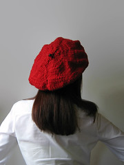 French Beret Knitted in Red Soft Wool (brandacrafts) Tags: branda knits beret hat red wool winter