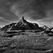 Badlands Along the Window Trail (Black & White, Badlands National Park)