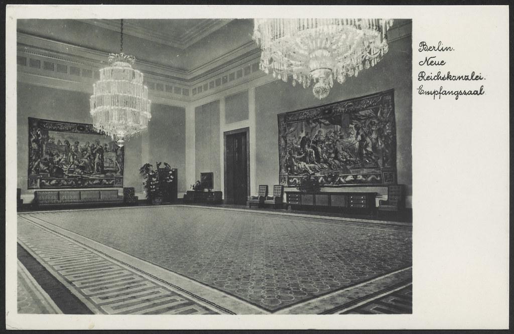 archiv p432 neue reichskanzlei empfangssaal front berlin 1940 hans michael