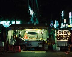 : (june1777) Tags: snap street seoul night light pentax 67 pentax67 105mm f24 kodak portra 800 bokeh
