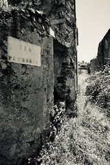 where ever it may lead me... (pixxar [back on track]) Tags: sardinia gairovecchio abandonedtown ruins petrarca bw