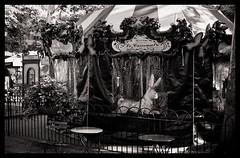 Le Carrousel, Bryant Park (V-A-B) Tags: film analog blackwhite efke100 expired nikonfe niokn50mmf14 rodinal manhattanb new manhattan newyorkcity brynatpark lecarrousel carousel