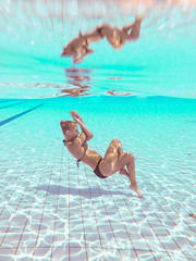 Underwater time IV (nagy.gergo902) Tags: girl model pose yoga underwater underwateryoga water pool blue swim swimsuit summer outdoor fujifilm finepix budapest hungary