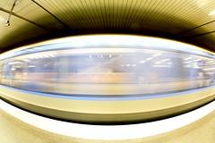 Speed Eye (CoolMcFlash) Tags: munich germany subway station train motion blur longexposure canon eos 60d sigma 10mm fisheye light underground transport münchen deutschland ubahn zug bahn bewegung speed bewegungsunschärfe geschwindigkeit fischauge licht beleuchtet fotografie photography city stadt marienplatz