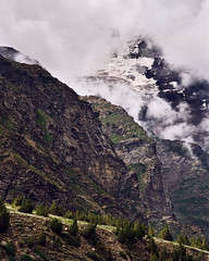 (Whitney Goodey) Tags: mountains sky clouds trees snow himalayas jispa himachalpradesh india