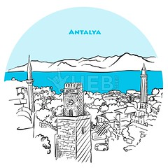 Antalya two toned drawing (Hebstreits) Tags: anatolia ancient antalya architecture attraction background blue building card city culture design destination drawing famous freehand greeting hand hills historical holiday illustration kaleici landmark landscape line minaret museum old outline pencil place rock sea silhouette sketch sky stroke tourism tourist tower town travel turkey turkish twotoned vacation vector wall yivli