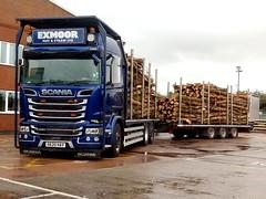 R620HAY (South West Trucks) Tags: scania r620 lorry v8 logging timber transport haulage r580 highline flatbed drawbar trucks trucking