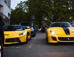 Yellow combo. (Leon Schiewe) Tags: ferrari 599gto laferrari v12 spa belgium hypercar limited rare
