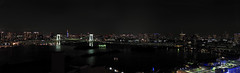 Baie de Tokyo (Faapuroa) Tags: japon2017 panoramique night bay japan town landscape bridge pont lumière light tokyo baie panoramic