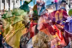 Helsinki Pride 2018 (10) (pni) Tags: multiexposure multipleexposure tripleexposure human person people being color colour umbrella pride parade helsinki helsingfors finland suomi pekkanikrus skrubu pni