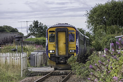 156436 Gatehaed Level Crossing (barry.young10) Tags: sprinter super scotrail gatehead level crossing 156436 ayrshire