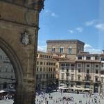 Loggia dei Lanzi - Piazza della Signoria, Florence - seen from the Uffizi Gallery thumbnail