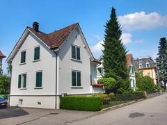 Gartenstrasse (sander_sloots) Tags: gartenstrasse uster switzerland houses architecture architectuur huizen road weg trees bomen haus baum luiken shutters swiss swissarchitecture homes