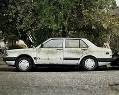Volkswagen Fox in Berkeley (SmittyNC) Tags: volkswagen vw fox jetta pentax 67 6x7 ektar