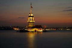 Maiden tower-Istanbul (meren34) Tags: maidentower istanbul tower turkey bosphorus night sunset sea island long exposure evening