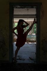 Elena 6 (xfoTOkex) Tags: silhouette lost place woman body language black dancer girl nikon d800 dress posing