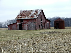 Awaiting the Inevitable (Picsnapper1212) Tags: barn silo wooden boards farm agriculture decay collapse scene highlandcounty ohio