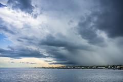 Storm sweeping in (StarRider1300) Tags: water storm rain weather bay beach petitroche newbrunswick clouds thunderclouds sky