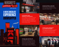 New York - Hershey's Chocolate World, Times Square, A new chocolate experience unwrapped; 2017, USA (World Travel Library - collectorism) Tags: newyork hershey chocolate hersheyschocolate timessquare 2017 travelbrochurefrontcover frontcover usa america world travel library center worldtravellib collection holidays tourism trip vacation brochures brochure papers prospekt catalogue katalog photos photo photography picture image collectible collectors sammlung recueil collezione assortimento colección ads online gallery galeria touristik touristische broschyr esite catálogo folheto folleto брошюра broşür documents dokument