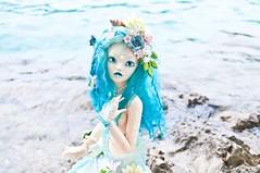 Mermaid (vanyrei) Tags: mermaid tail soom serin rico fairyland chloe minifee hybrid flower lake sea water blue bjd balljointeddoll customdoll magic creature nature