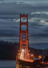 Rush Hour at Golden Gate (rajaramki) Tags: goldengatebridge lighttrail bayarea