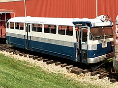 Transportation museum of St. Louis. (Chicago Rail Head) Tags: mow transportationmuseum bluebirdbus keroseneburner gm railbus