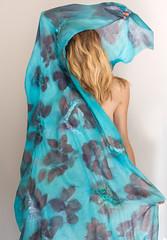ecoprint prunus collection natural dyes (ResPiri handmadefelt) Tags: turquoise nuno felt ecofashion fashion ecoprint textile design indigp indigo indaco prunus print azzurro woman sea òeaves leaves fiber art