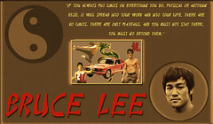 Bruce Lee tribute-1 (codyjacobson@zenmountainmedia.com) Tags: exploringtheartofimagination zenmountainmediacom poster graphic design collage text wooden plaque quote bruce lee philosophy motivation photography icons martial arts
